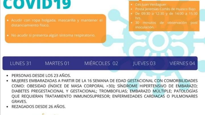 CALENDARIO DE VACUNACION 31/05 – 04/06